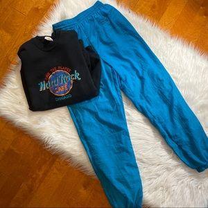 Vintage Reebok Teal Windbreaker pants